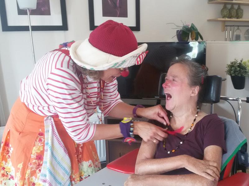 Clown Poets bij Gehandicapten